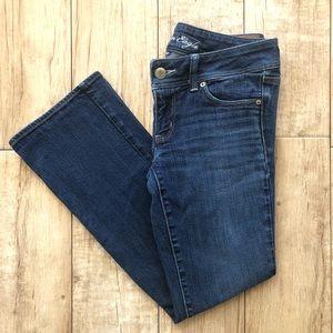 American Eagle Slim Boot Short Medium Wash Jeans